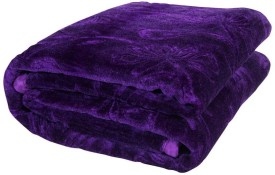 Panipat Textile Hub Checkered Double Blanket Blue(Mink Blanket)