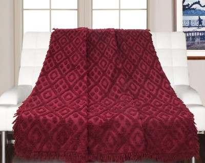 Saral Home Geometric Double Throw Red