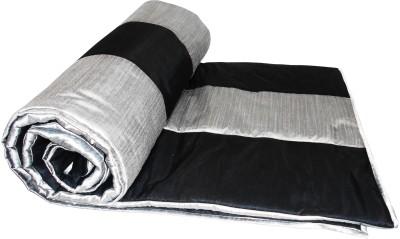 Zikrak Exim Checkered Queen Quilts & Comforters Black, Silver