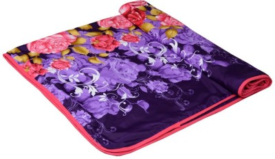 Shri Abha Emporium Floral Single Blanket Multicolor
