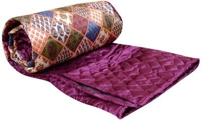 Rangasthali Geometric Double Quilts & Comforters Purple