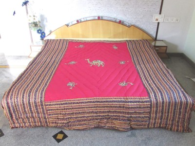 Factorywala Embroidered Double Quilts & Comforters Pink