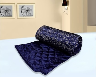 Urban Style Floral Double Quilts & Comforters Blue