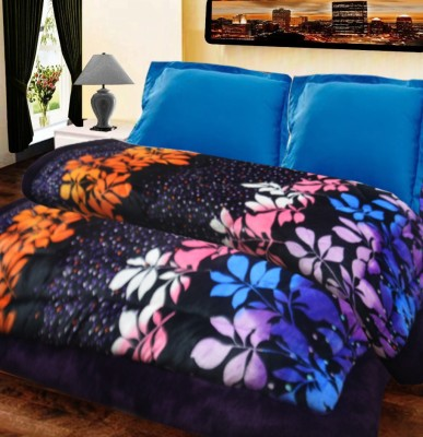 Loomkart Floral Double Quilts & Comforters Multicolor