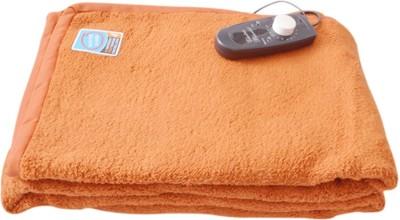 Asist Health Care Plain Single Electric Blanket Rust