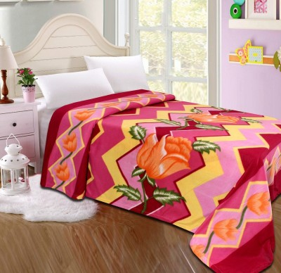 The Intellect Bazaar Floral Single Blanket Multicolor