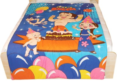 Chhota Bheem Cartoon Single Quilts & Comforters Blue