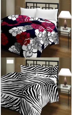 Ayushi Craft & Fashions Animal Single Blanket Multicolor