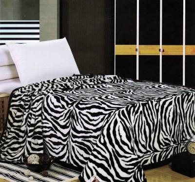 Valtellina Animal Single Blanket White, Black