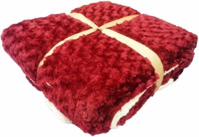 JK Handloom Plain Double Quilts & Comforters Red