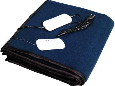 LeoSpark Plain Double Electric Blanket Blue