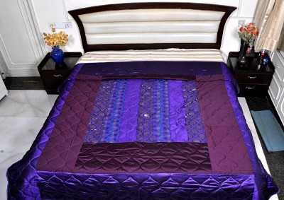 Lal Haveli Abstract Double Quilts & Comforters Purple