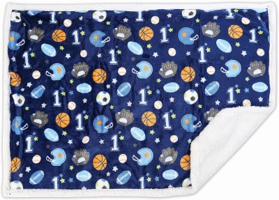 Baby Oodles Printed Crib Crib Baby Blanket Dark Blue