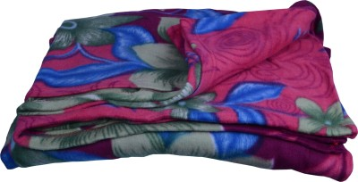 Bombay Dyeing Floral Double Blanket Purple