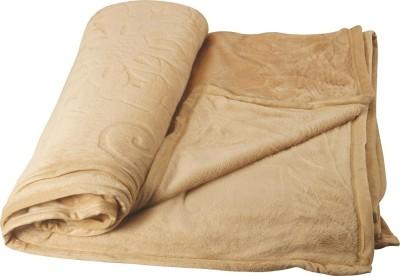 Dexim Checkered Double Blanket Beige