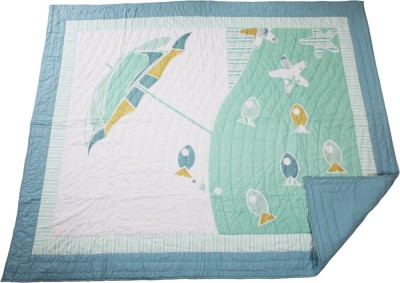 Pink Guppy Cartoon Double Quilts & Comforters Green
