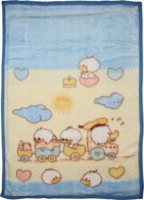 MeeMee Cartoon Single Blanket Light Blue