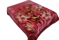 Holy Angel Floral Double Blanket Maroon(1 Blanket)