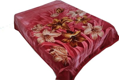Holy Angel Floral Double Blanket Maroon