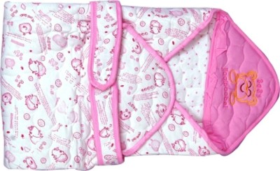 Anmol Cartoon Single Blanket White, Pink