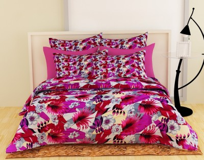 Story@home Floral Double Quilts & Comforters Maroon(1 Double Comforter)