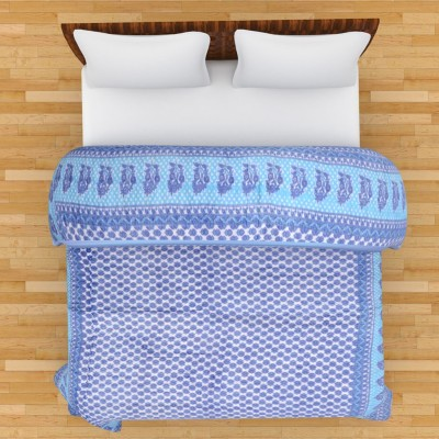 The Ethnic Story Floral Single Quilts & Comforters Blue