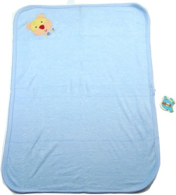Ahad Plain Single Blanket Blue