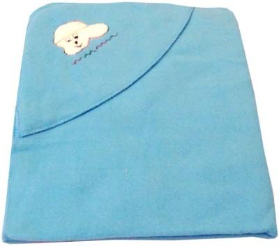 Baby Basics Plain Single Blanket Blue