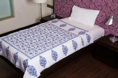 JaipurFabric Floral Single Quilts & Comforters Blue