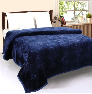 optimistic Home Furnishing Abstract Double Blanket Blue