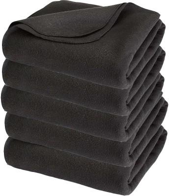 Aazos Plain Single Blanket Grey