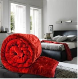Panipat Textile Hub Floral King Blanket Red