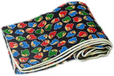 eCraftIndia Printed Double Blanket Red, Blue and Green
