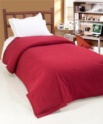 Surhome Plain Single Blanket Maroon