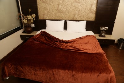 Tima Plain Double Blanket Brown