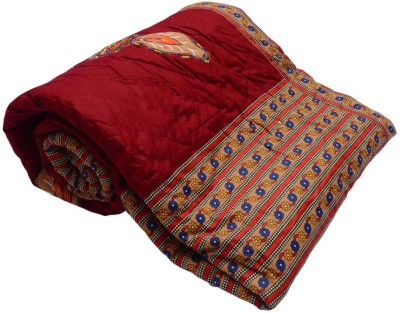 Monil Floral Double Quilts & Comforters Maroon
