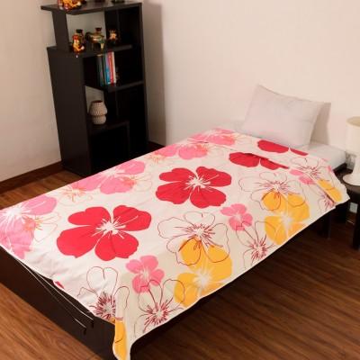 D&D Crafts Floral Single Dohar White, Pink