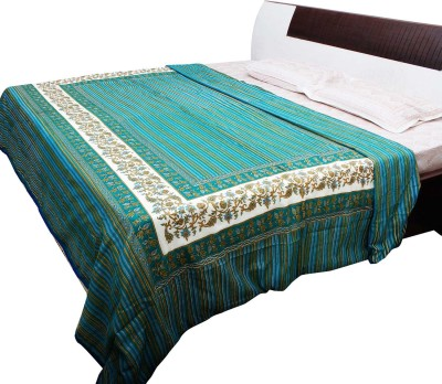 Jaipur Raga Floral Double Quilts & Comforters Sky Blue