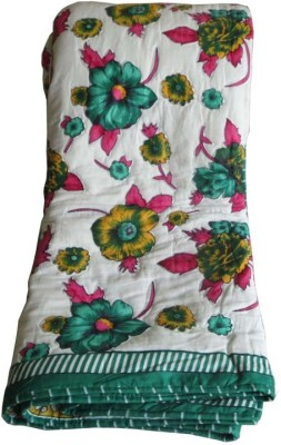 Needlecrest Floral Double Quilts & Comforters Green