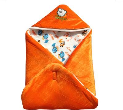 My NewBorn Cartoon Crib Hooded Baby Blanket Tangerine