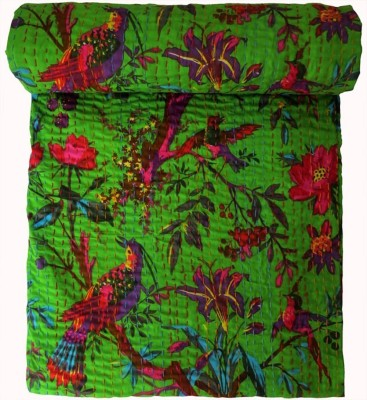 HAG Art and Craft Abstract Single Quilts & Comforters Green