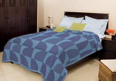 Bombay Dyeing Geometric Single Blanket Blue