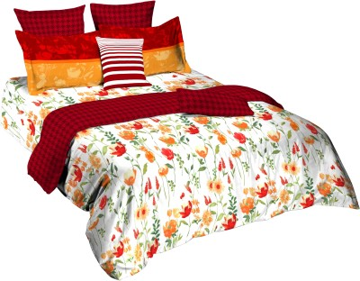Tangerine Floral King Quilts & Comforters Multicolor