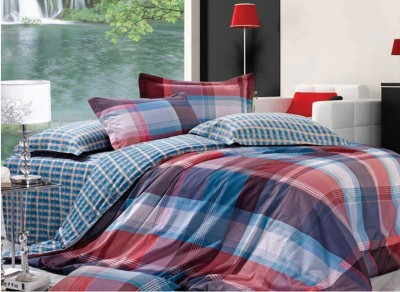 Zyne Checkered Double Quilts & Comforters Multicolor