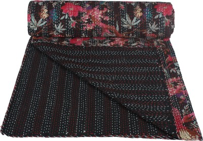 Rajcrafts Floral Double Quilts & Comforters Black