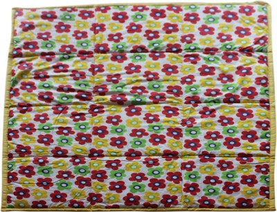 CocoBee Floral Single Swadding Baby Blanket Red, Yellow