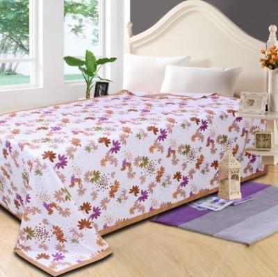 Fabriclair Floral Single Top Sheet Brown