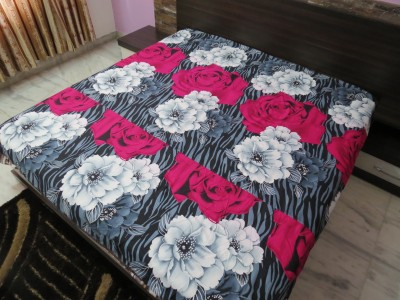 Deluxe Floral Double Dohar Pink
