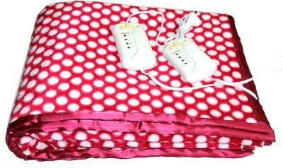 LeoSpark Polka Double Electric Blanket Pink