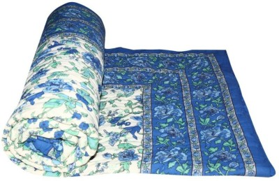 Sudharaj Floral Single Blanket Blue